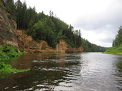 Koiva jõgi (Gauja) alamjooks
