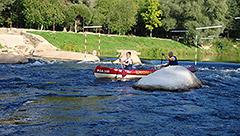 Koiva jõgi (Gauja). Tehiskärestik Valmieras